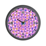 MANDALA SERIES:  Pink Cavern Wall Clock
