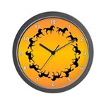 SERIES G:  Sunset Rider Wall Clock