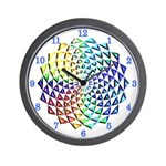 RAINBOW SERIES: Spiraling Rainbow Wall Clock