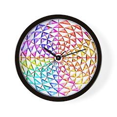 <b>RAINBOW SERIES:</b> Jeweled Rainbow W. Clock