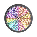RAINBOW SERIES:  Jeweled Rainbow W. Clock