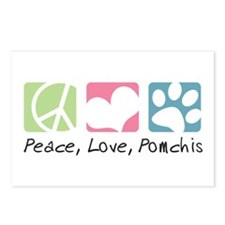 Peace, Love, Pomchis Postcards (Package of 8)