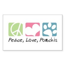 Peace, Love, Pomchis Decal