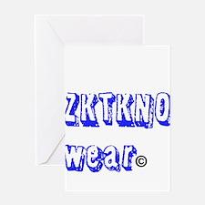 zktkno wear blue Greeting Card