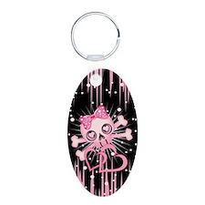 Pink Neon Skull Keychains