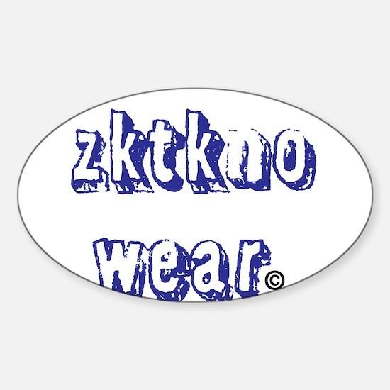 zktkno wear blue2 Sticker (Oval)