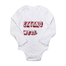 zktkno wear red Long Sleeve Infant Bodysuit