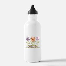 Chelsea with cute flowers Water Bottle