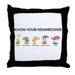 Know Your Mushrooms Throw Pillow
