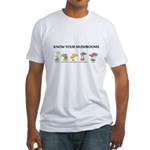Know Your Mushrooms Fitted T-Shirt