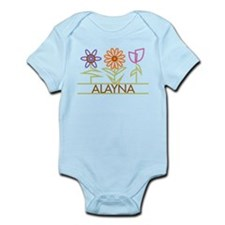 Alayna with cute flowers Infant Bodysuit