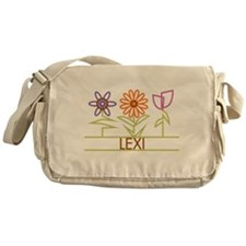 Lexi with cute flowers Messenger Bag