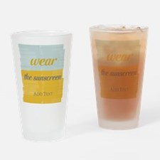 Motivational Wear The Sunscreen Vacation Drinking