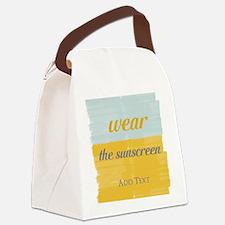 Motivational Wear The Sunscreen Vacation Canvas Lu
