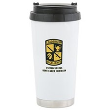 SSI - US Army Cadet Command with Text Travel Mug