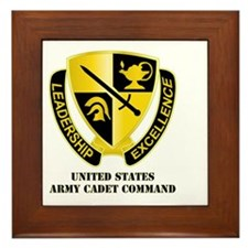 DUI - US Army Cadet Command with Text Framed Tile