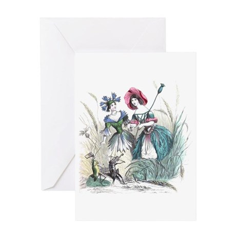 Cornflower and Bluebonnet Greeting Card