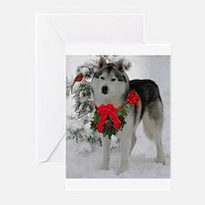 Siberian Husky Greeting Cards (Pk of 20)