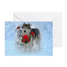 Single Siberian Husky Greeting Card (1)