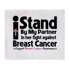 I Stand Partner Breast Cancer Throw Blanket