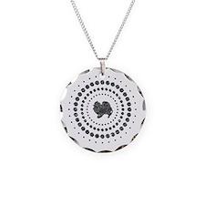 Pomeranian Necklace Circle Charm