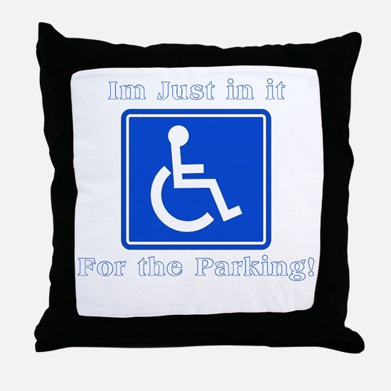 Handicap Parking Throw Pillow
