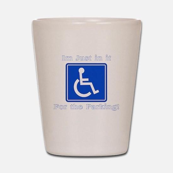 Handicap Parking Shot Glass