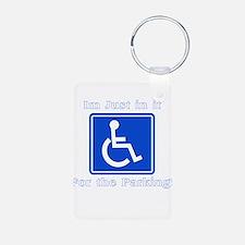 Handicap Parking Aluminum Photo Keychain