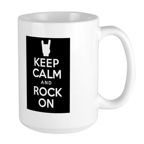 Keep Calm and Rock On Large Mug
