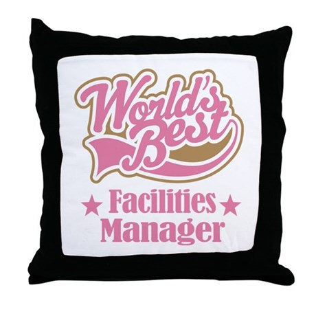 Facilities Manager Gift Throw Pillow