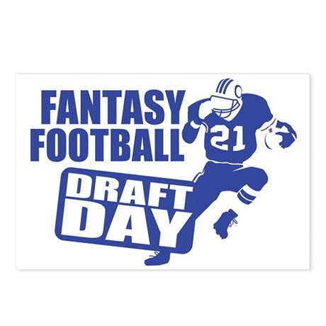 Fantasy Football Draft Postcards (Package of 8)