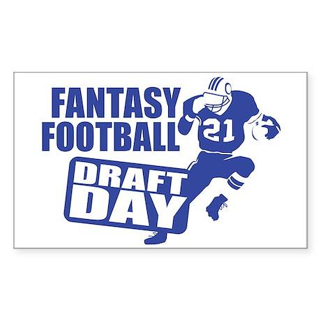 Fantasy Football Draft Rectangle Sticker