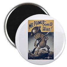 Mr. Peanut Goes to War Magnet