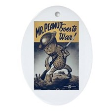 Mr. Peanut Goes to War Oval Ornament