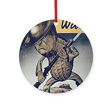 Mr. Peanut Goes to War Ornament (Round)