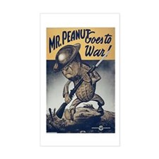 Mr. Peanut Goes to War Rectangle Decal