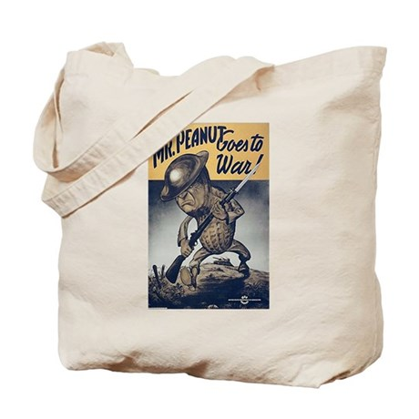 Mr. Peanut Goes to War Tote Bag