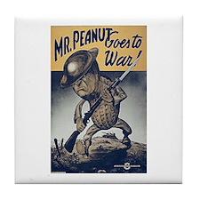 Mr. Peanut Goes to War Tile Coaster