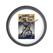 Mr. Peanut Goes to War Wall Clock
