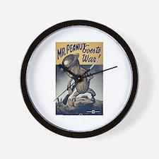 Mr. Peanut Goes to War Wall Clock