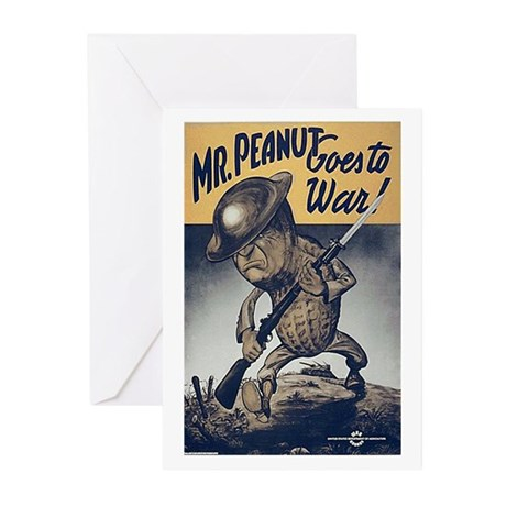 Mr. Peanut Goes to War Greeting Cards (Package of