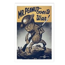 Mr. Peanut Goes to War Postcards (Package of 8)