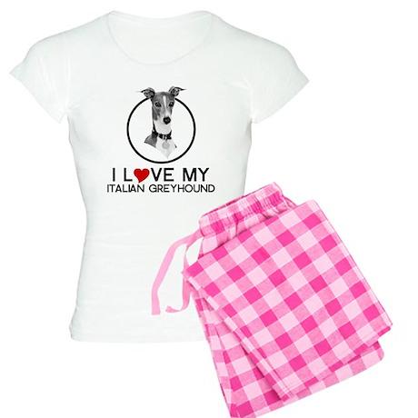 I love My Italian Greyhound Women's Light Pajamas