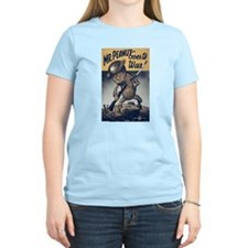 Mr. Peanut Goes to War (Front) Women's Pink T-Shir