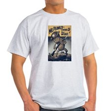 Mr. Peanut Goes to War Ash Grey T-Shirt