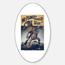 Mr. Peanut Goes to War Oval Decal