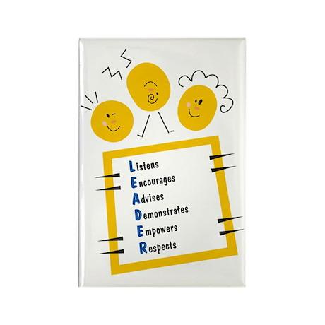 LEADER Rectangle Magnet (100 pack)