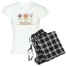 Teagan with cute flowers Pajamas