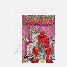 Satan's Powder Room Greeting Card