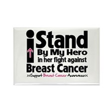 I Stand Hero Breast Cancer Rectangle Magnet